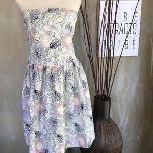 STRAPLESS FLORAL SUN DRESS FULL SKIRT XL